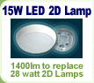 LED 15W 2D Emergency Light