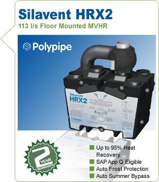 Polypipe Silavent HRX2